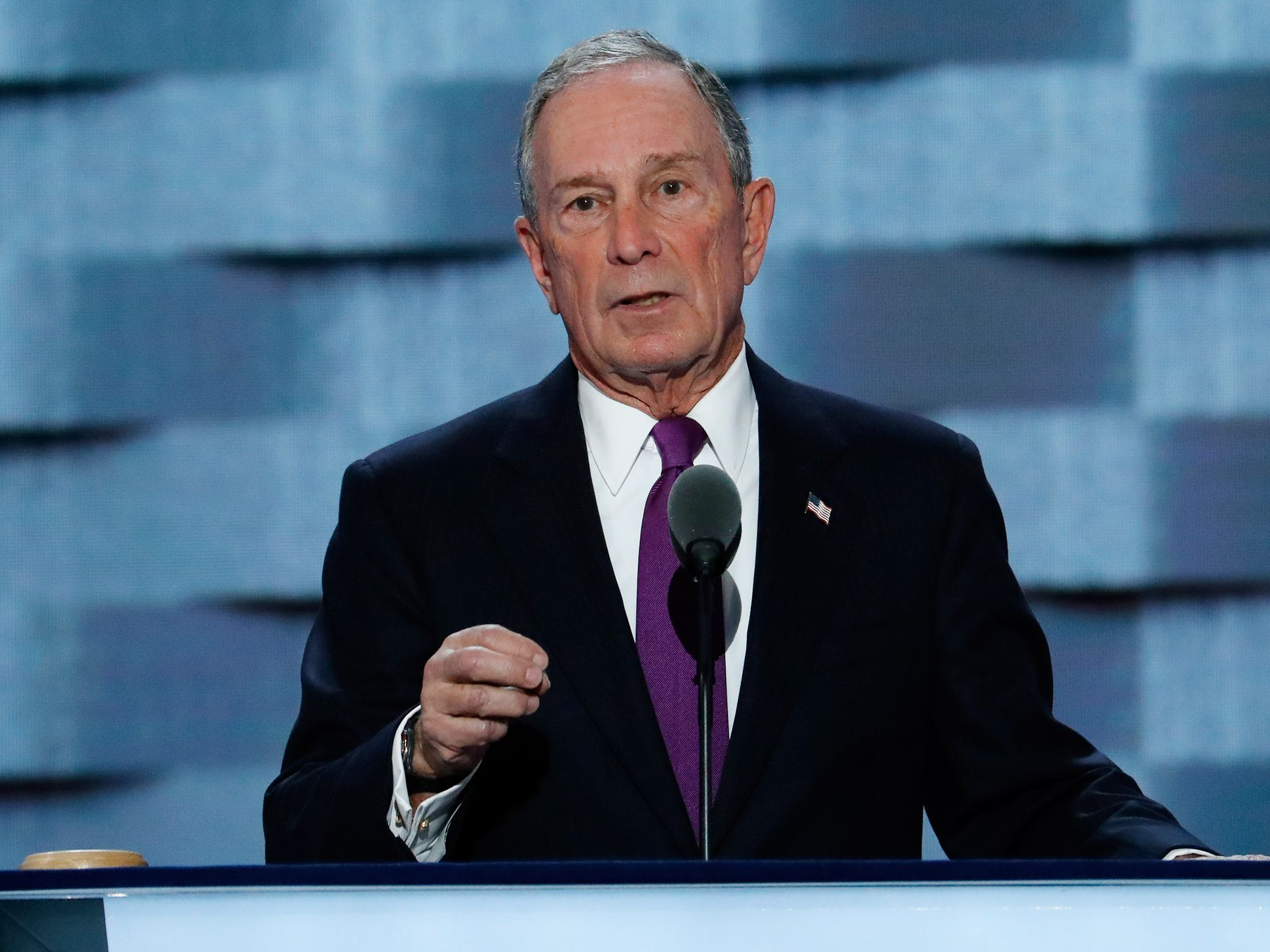 Bloomberg At Democratic Convention Backs The Sane Competent Person Against Donald Trump