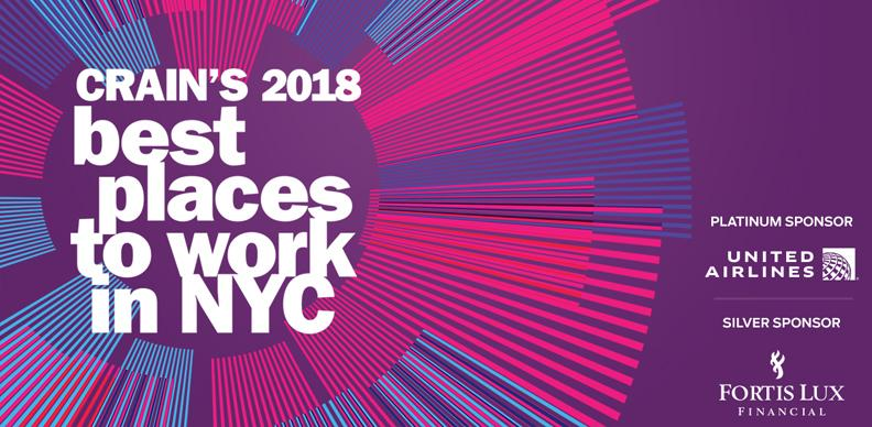 crain s 2018 best places to work awards crain s new york business